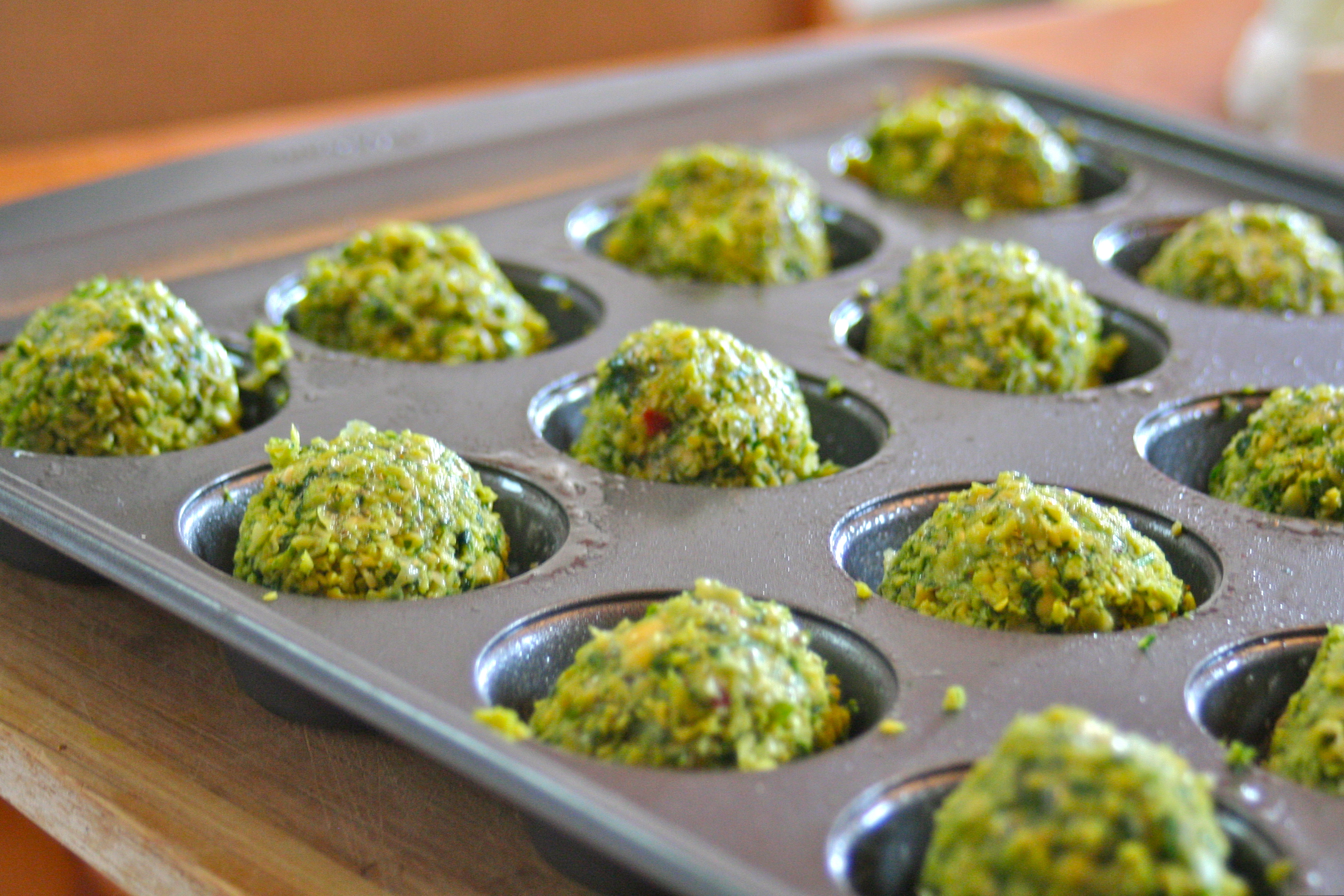 Baked Green Falafel with Tahini