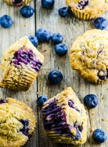 Vegan Coconut Blueberry Muffins