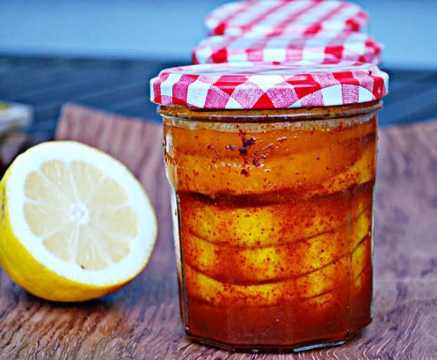 Preserved lemons in a jar
