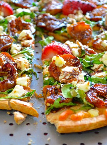 Caramelized Figs & Goat Cheese Pizza With Balsamic Glaze