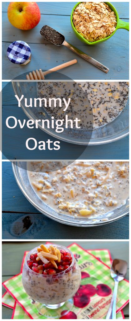Overnight Oats - #oats #Overnight #Breakfast #healthy #almonds @pomegranates #apples