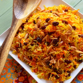 Sweet Rosh Hashanah Rice with Carrots and Raisins