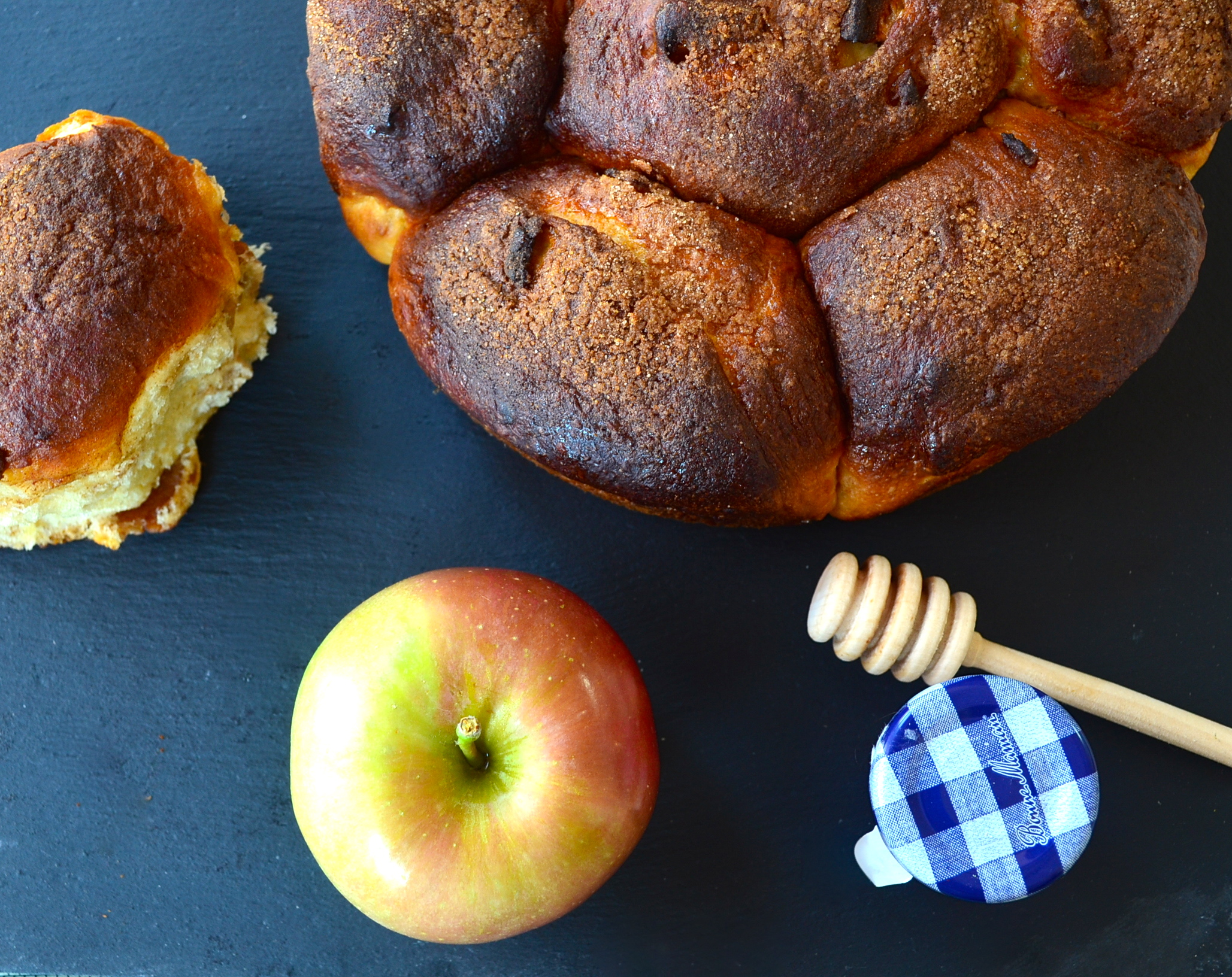 """Apples and Honey"" Challah for Rosh Hashanah"