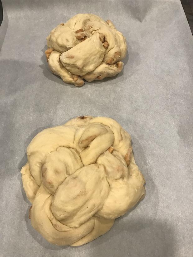 2 braided round challah