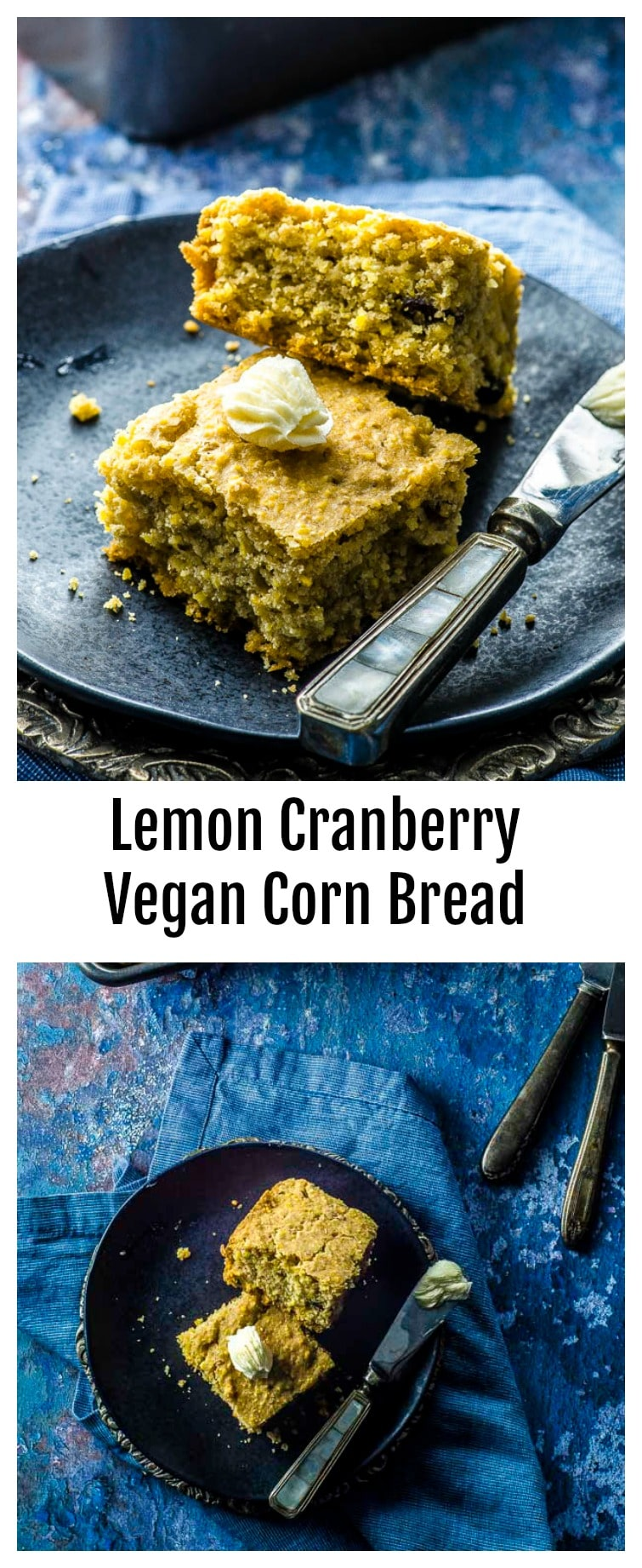 This Lemon Cranberry Vegan Cornbread, is great for breakfast or as a side on your holiday table