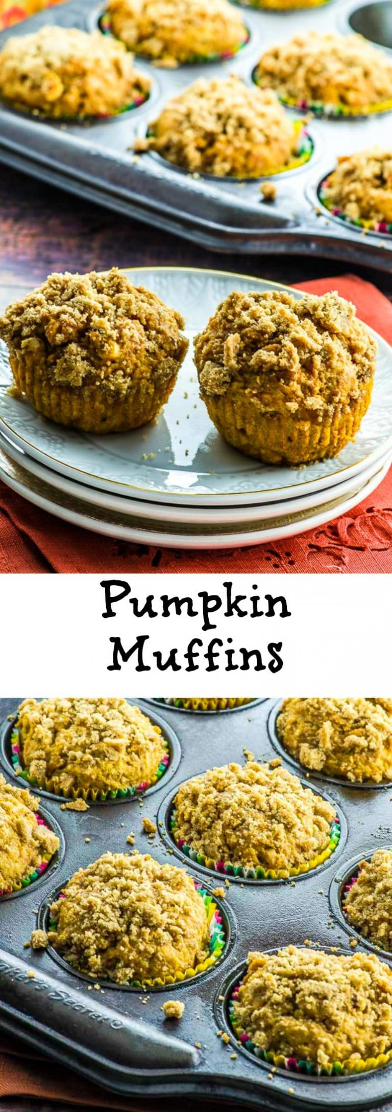 Super moist vegan pumpkin muffins with a crunchy streusel. There are great for breakfast or as a snack with your favorite coffee or hot drink.
