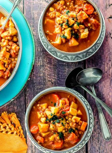 Moroccan Harira Soup (Vegan and Gluten Free)