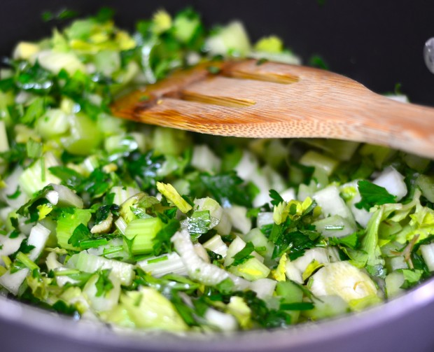 israeli couscous with lemony celery sauce