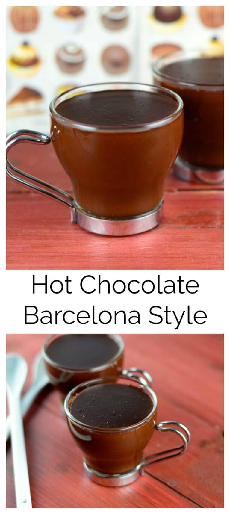 In Barcelona, specially in the old city, you can enjoy a dreamy thick rich chocolate caliente. This hot chocolate, Barcelona style is absolutely fantastic. Add some hot fresh churros and you are in chocolate heaven.