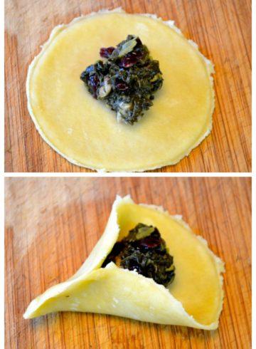 Vegan Savory Spinach Hamantaschen