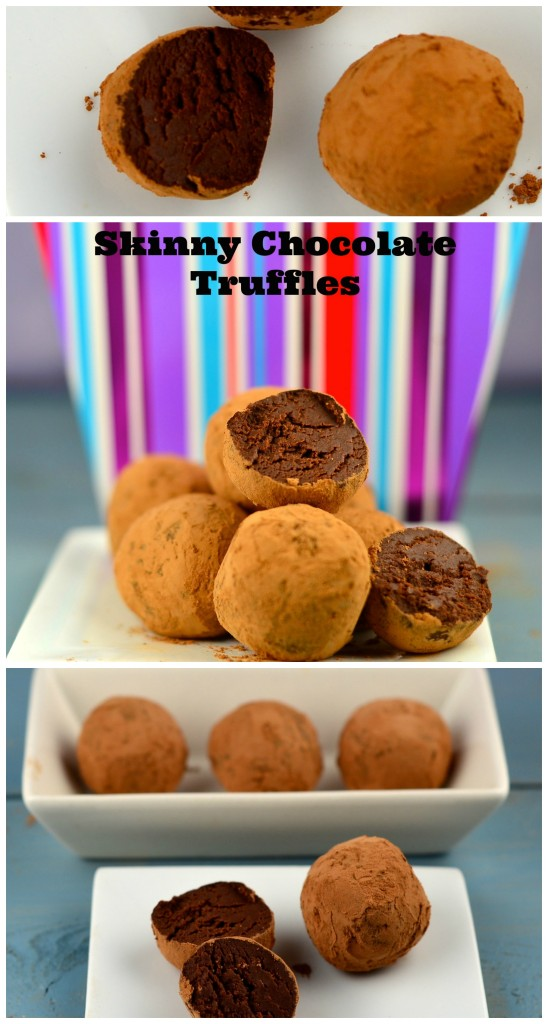 skinny chocolate truffles