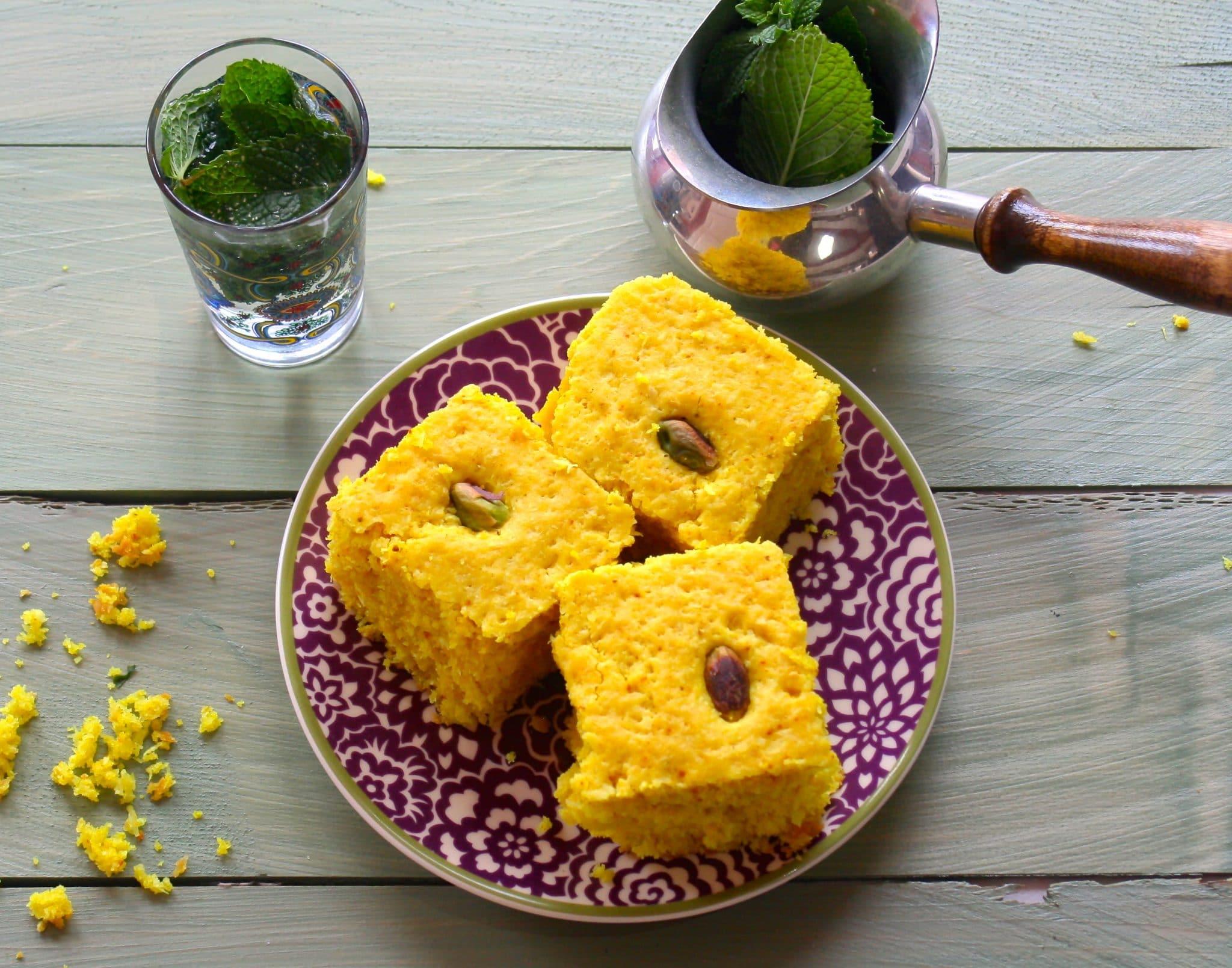 Sfuff – Vegan Middle-Eastern Turmeric Cake