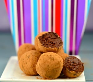 guilt free chocolate truffles