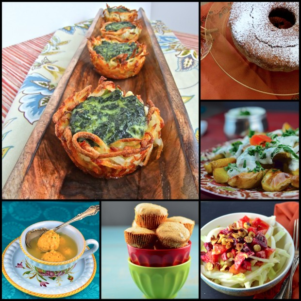 Passover Recipe Round up - Our Favorite Passover recipes #passover #roundup #vegetarian