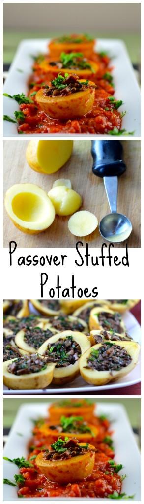 Mushroom Stuffed Potatoes #vegan #vegetarian #glutenFree #passover #kosher #potatoes #recipes