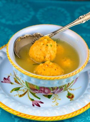 Fingerling Potatoes With Creamy Cream Cheese Tarragon Sauce  & Sweet Potato and Cream Cheese Matza Balls