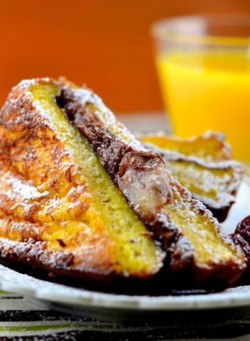 Sweet & Savory Nutella Grilled Cheese On French Toast