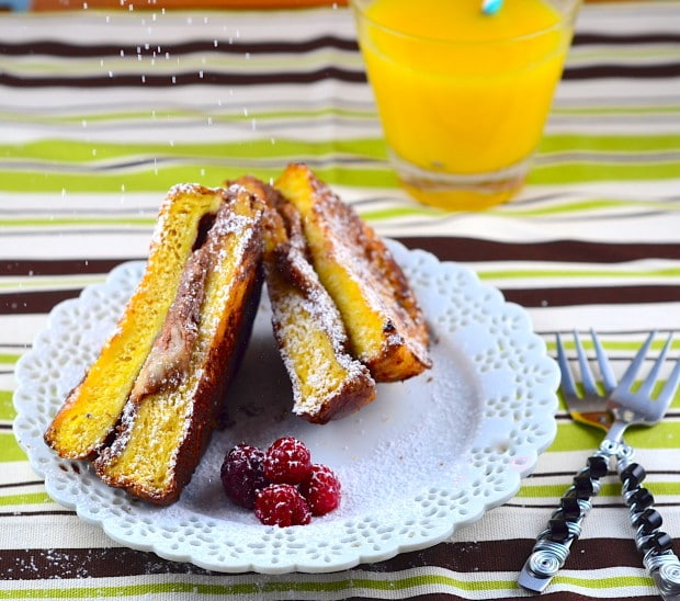 French toaste nutella grilled cheese