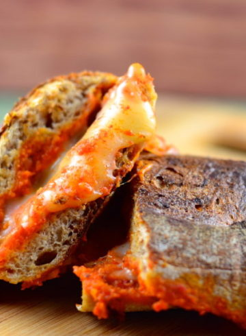 Manchego Grilled Cheese Sandwich with Romesco