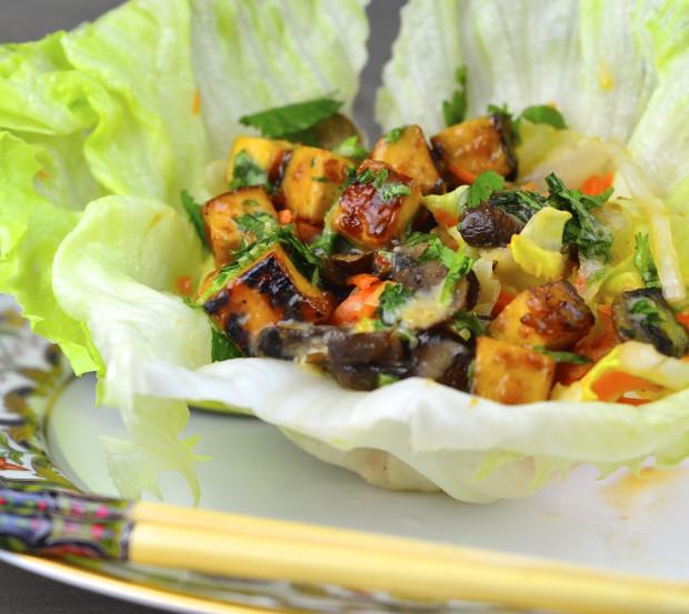 Vegan Thai Lettuce cups