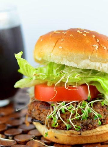 Vegan Tempeh & Black Bean Burgers