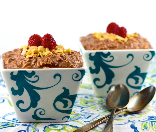 Vegan make ahead chocolate oatmeal