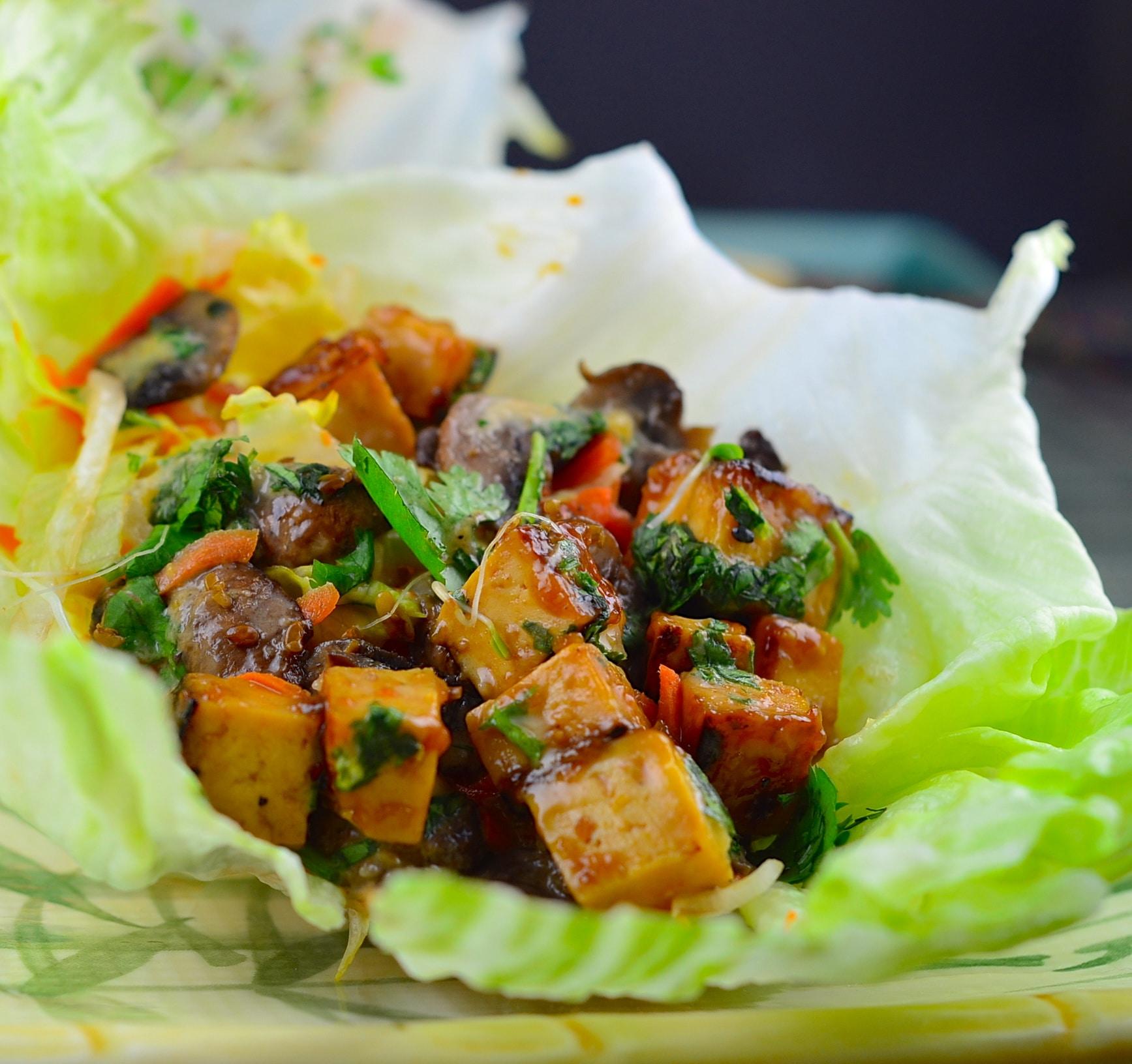 Vegan Thai Lettuce Cups with Peanut Sauce