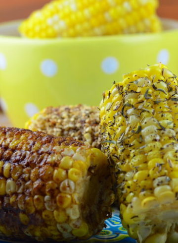 Dukkah, Herbes de Provence and Cinnamon Sugar Crusted Corn