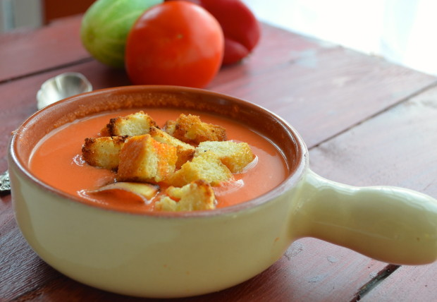 Authentic Gazpacho from Spain. Healthy, Smooth, Refreshing, like a salad in a bowl but so much better!