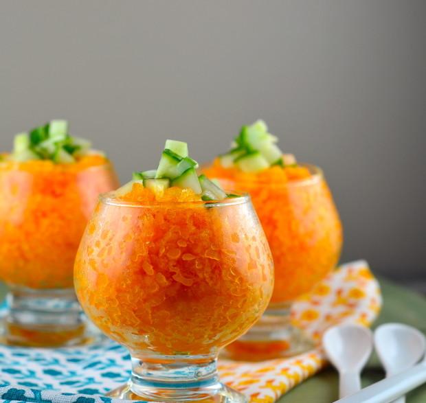 carrot coconut granita