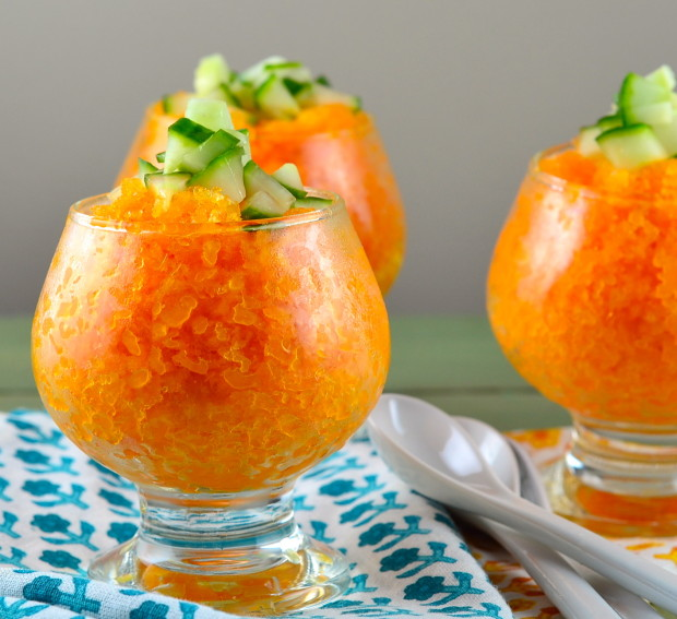 carrot coconut granita