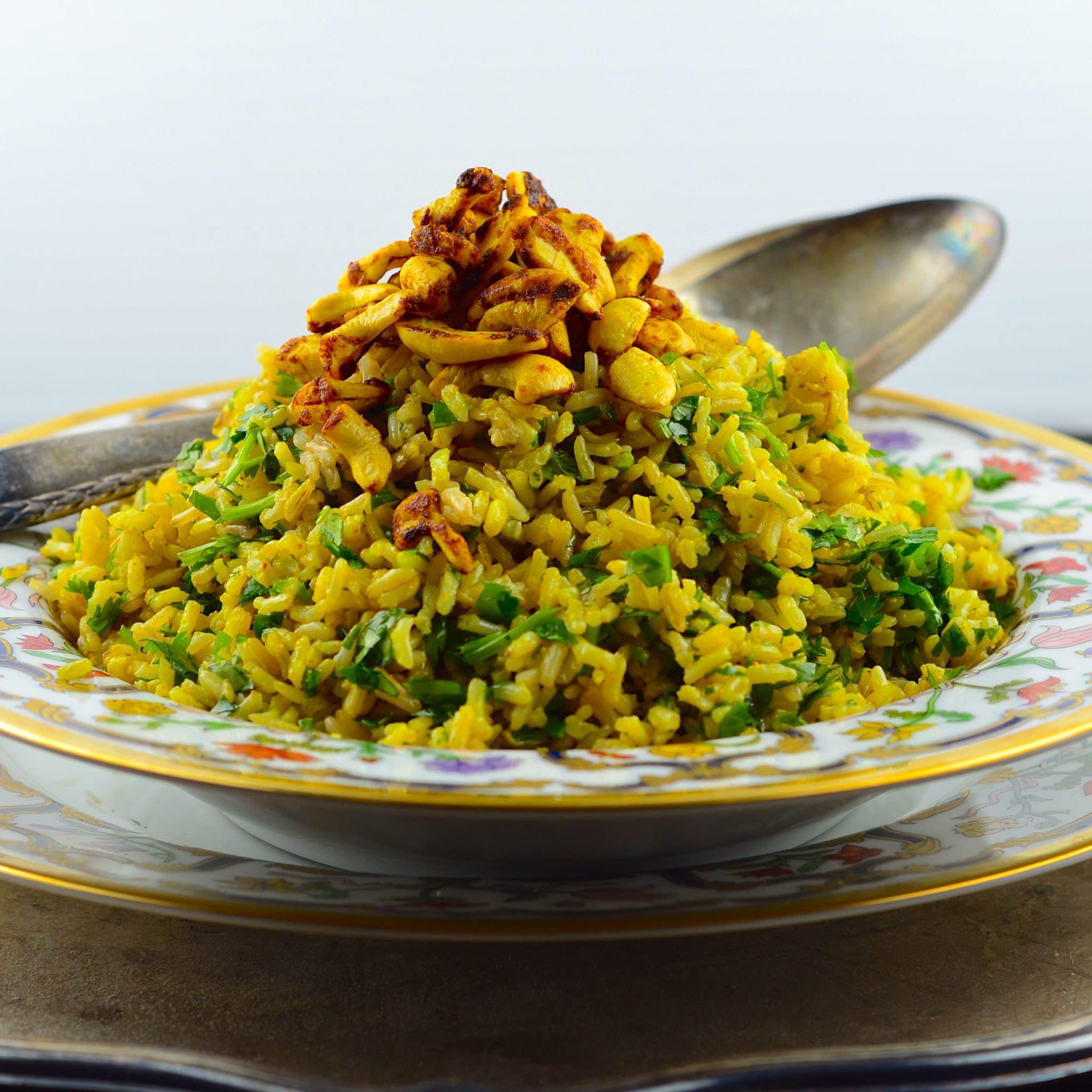 Spiced Cashew Rice