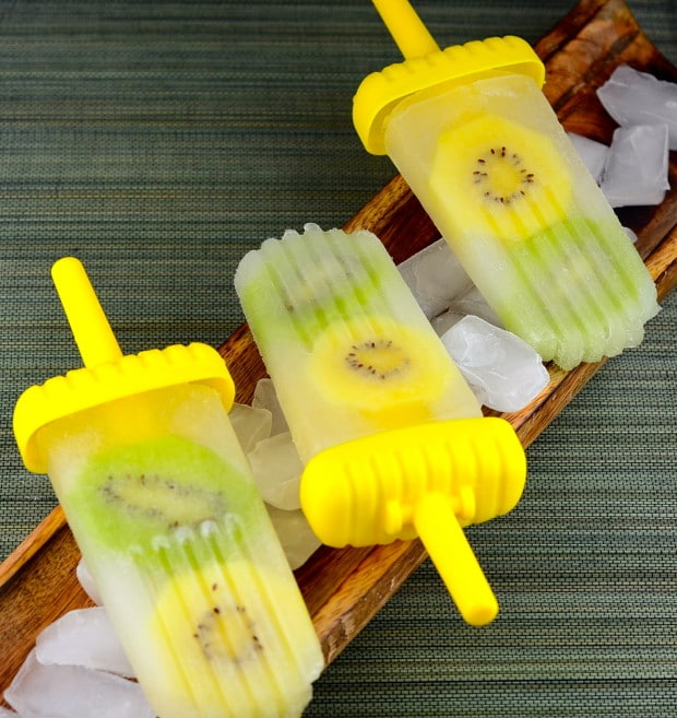 Coconut Water Limeade & Kiwi Ice Pops