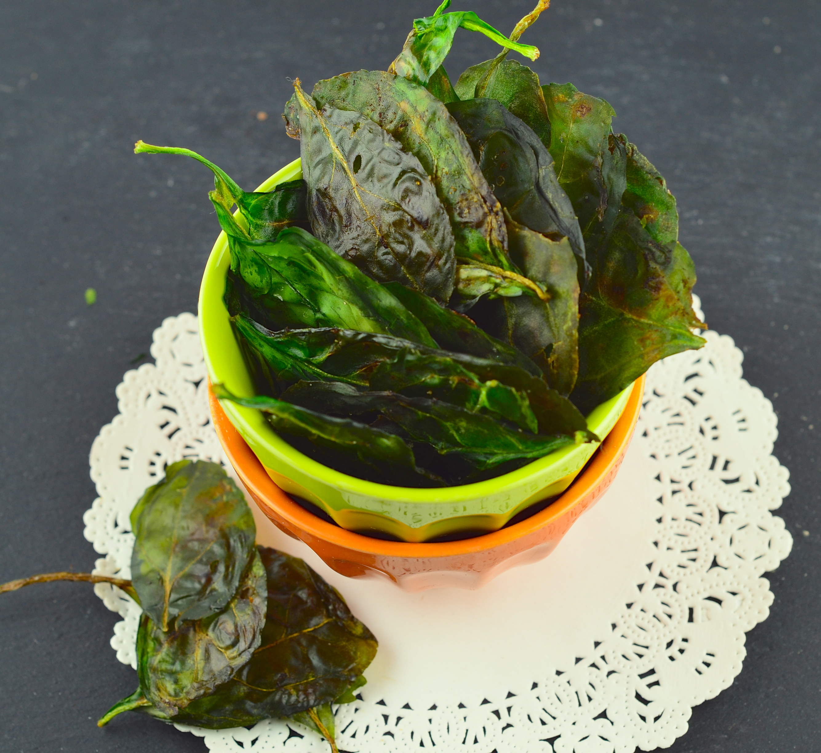 Salt & Vinegar Spinach Chips