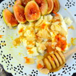 Orange Cardamom Ricotta #cheese #orange #cardamom #kosher #figs #shavuot #recipes