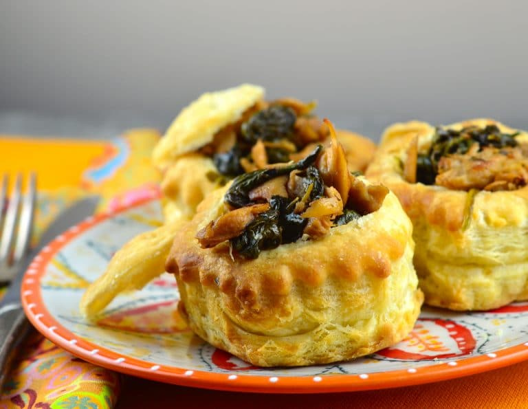 Vegan Herbed Seitan Vol Au Vents
