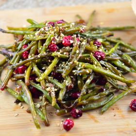 green beans, cranberries, dukkah, thanksgiving, hanukkah, chanukah, thanksgivukkah, gluten free, vegan, vegetarian, kosher,
