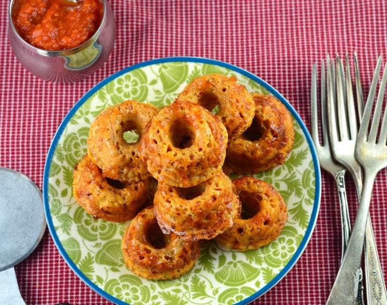 Savory Mini Pizza Donuts