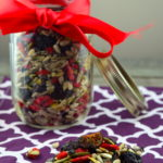 Nut Free Power Trail Mix #goji Berries #Sunflower Seeds #pumpkin seeds #Cocoa Nibs #figs #cherries