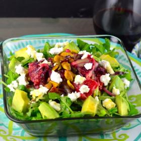 Blood Orange, avocado & Pistachio Salad