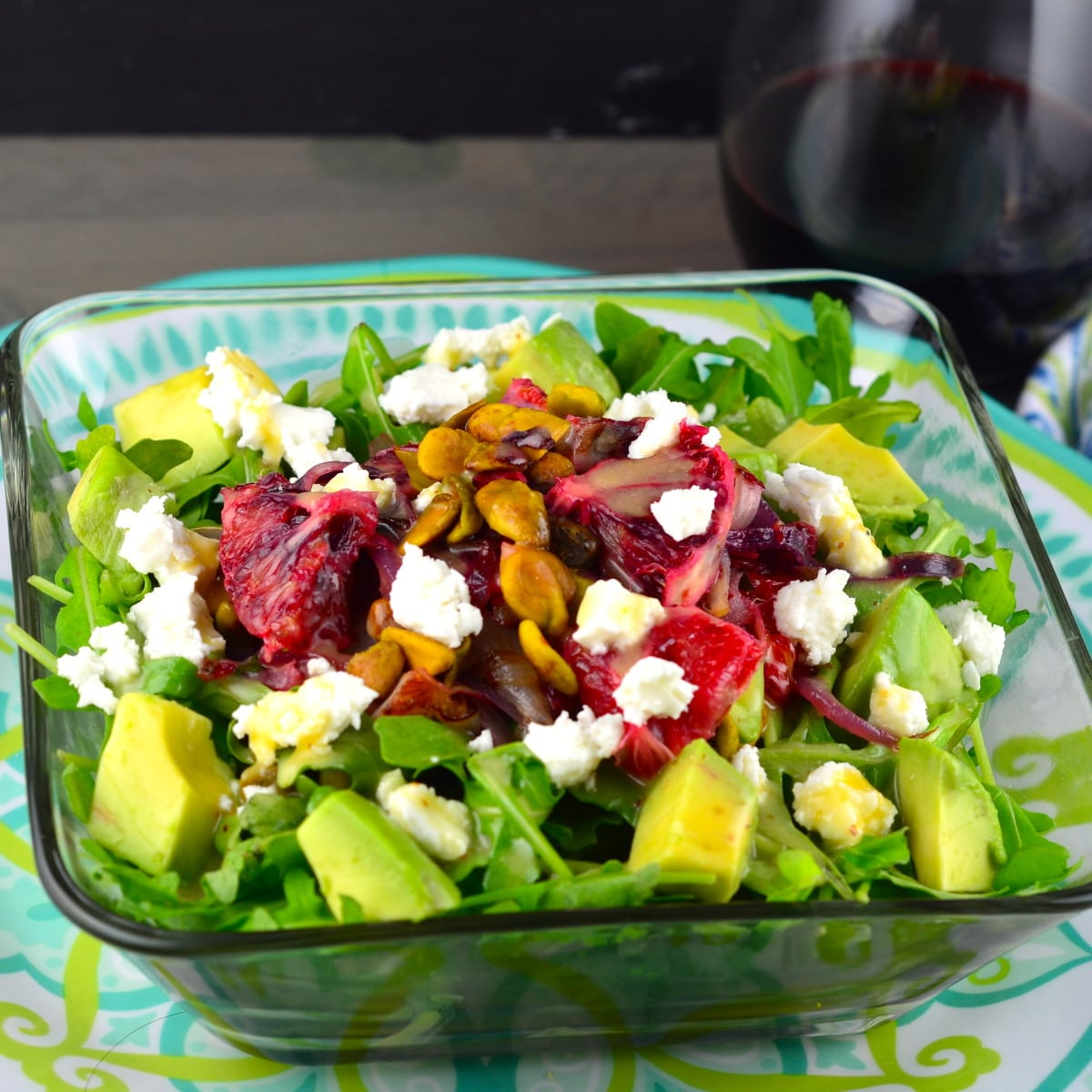 Warm Blood Orange, Avocado & Pistachio Salad