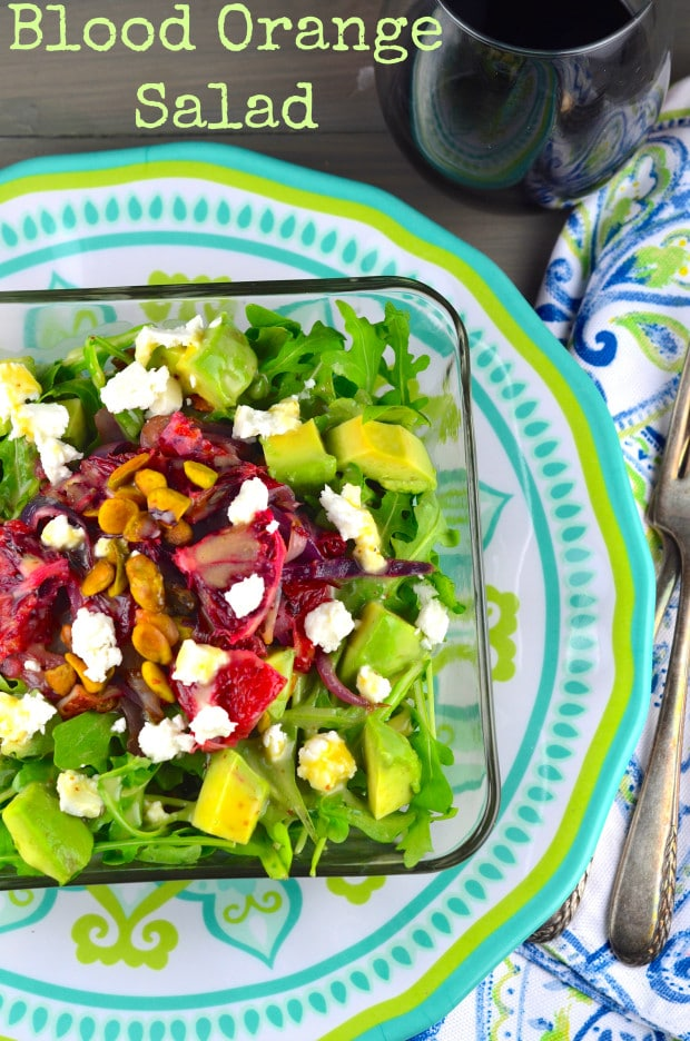 Blood Orange, avocado & Pistachio Salad