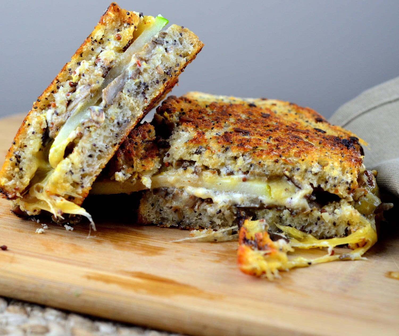 Mushroom, Goat & Gouda Grilled Cheese Sandwich