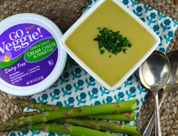 Vegan Cream of Asparagus Soup #soup #vegan #glutenFree #asparagus #kosher