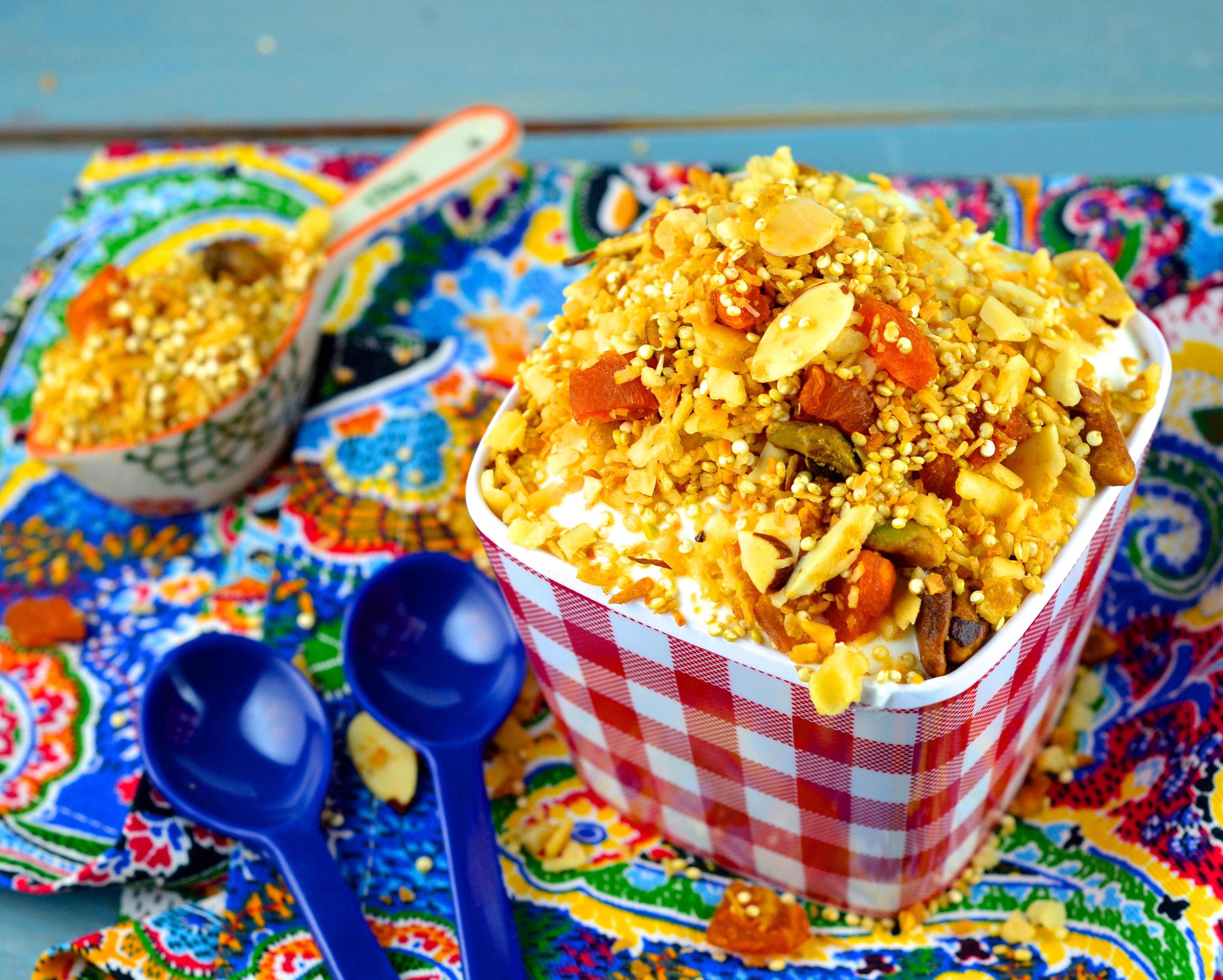 Gluten Free Passover Recipes Part 5 : Quinoa, Pistachio & Apricot Granola