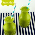 Tropical green smoothie #vegan #smoothie #tropical #drink