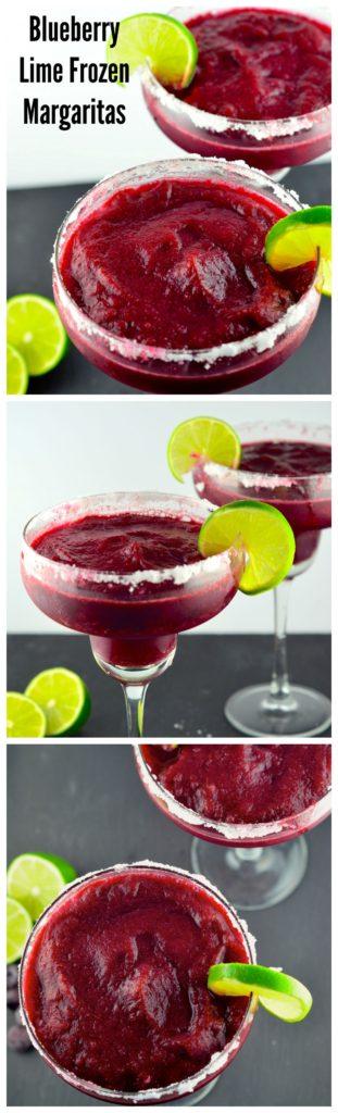 Blueberry Lime Margarita #summer #drink #cocktail #blueberry #lime #refreshing #margarita