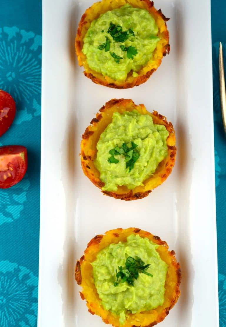 yuca cups with guacamole #vegan #glutenFree #vegetarian #appetizer #avocado #guacamole