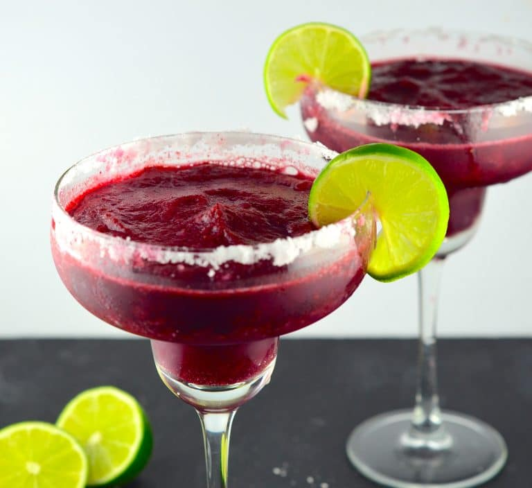 Blueberry Lime Frozen Margaritas May I Have That Recipe