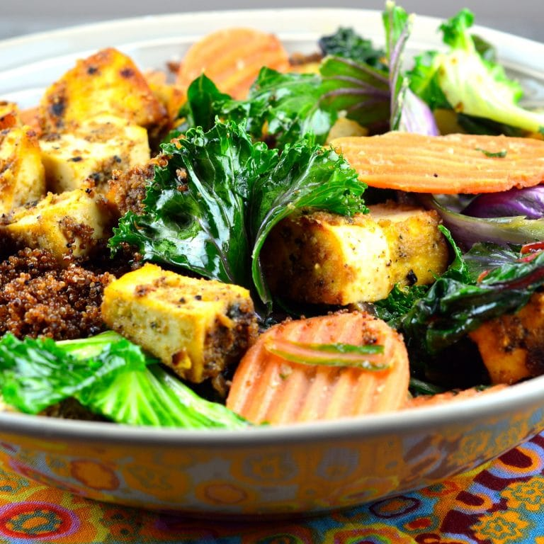 Meatless Monday – Kañiwa, Swiss Chard & Tofu Bowl